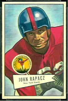 John Rapacz 1952 Bowman Small football card