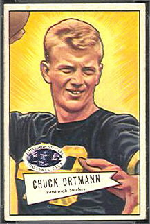 Chuck Ortmann 1952 Bowman Small football card