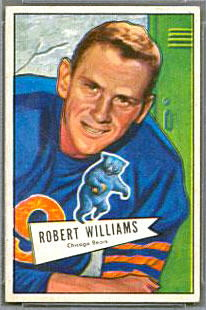 Bob Williams 1952 Bowman Small football card