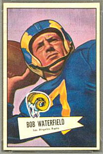 Bob Waterfield 1952 Bowman Small football card