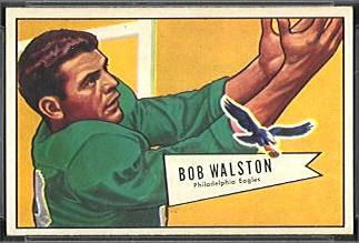 Bobby Walston 1952 Bowman Small football card