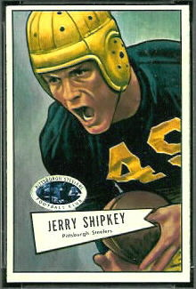 Jerry Shipkey 1952 Bowman Small football card