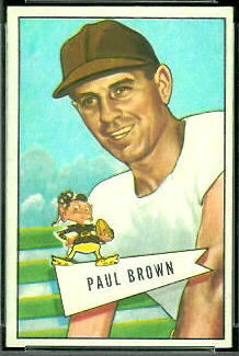 Paul Brown 1952 Bowman Small football card