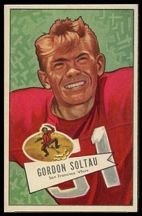 Gordon Soltau 1952 Bowman Small football card