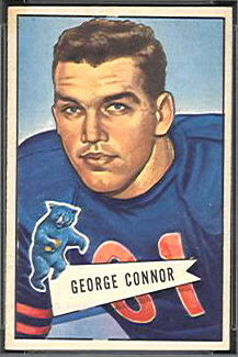George Connor 1952 Bowman Small football card