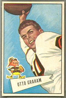 Otto Graham 1952 Bowman Small football card