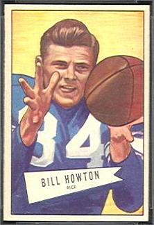 Bill Howton 1952 Bowman Small football card