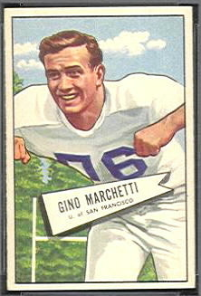 Gino Marchetti 1952 Bowman Small football card