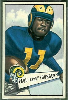 Tank Younger 1952 Bowman Small football card