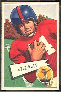 Kyle Rote 1952 Bowman Small football card