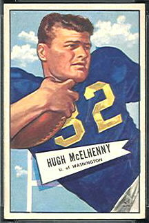 Hugh McElhenny 1952 Bowman Small football card