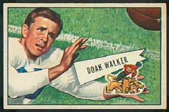 Doak Walker 1952 Bowman Small football card