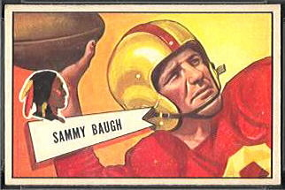 Sammy Baugh 1952 Bowman Small football card
