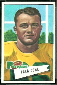 Fred Cone 1952 Bowman Small football card