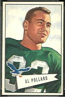 Al Pollard 1952 Bowman Small football card
