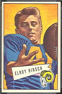 Elroy Hirsch 1952 Bowman Small football card