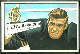 Keever Jankovich 1952 Bowman Small football card
