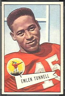 Emlen Tunnell 1952 Bowman Small football card