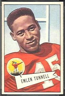 Emlen Tunnell 1952 Bowman Small football card