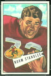 Norm Standlee 1952 Bowman Small football card