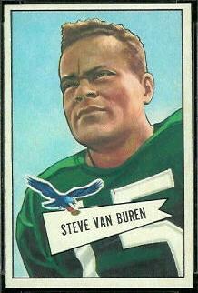 Steve Van Buren 1952 Bowman Small football card