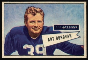 Art Donovan 1952 Bowman Small football card