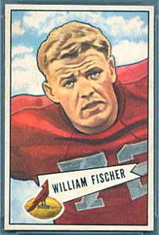 Bill Fischer 1952 Bowman Small football card