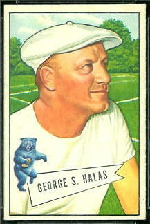 George Halas 1952 Bowman Small football card