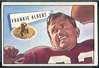 Frankie Albert 1952 Bowman Small football card