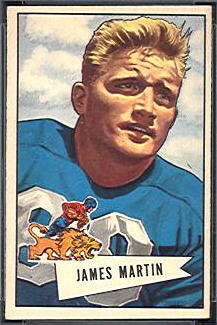Jim Martin 1952 Bowman Small football card