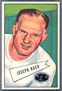 Joe Bach 1952 Bowman Small football card