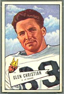 Glen Christian 1952 Bowman Small football card