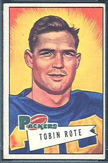 Tobin Rote 1952 Bowman Small football card
