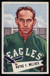 Wayne Millner 1952 Bowman Small football card