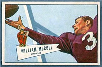 Bill McColl 1952 Bowman Small football card