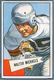 Walt Michaels 1952 Bowman Small football card