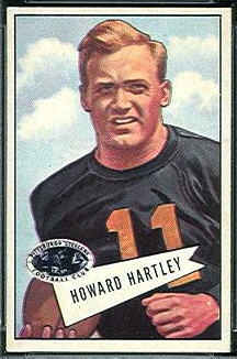 Howard Hartley 1952 Bowman Small football card