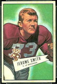 Jerome Smith 1952 Bowman Small football card