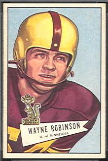 Wayne Robinson 1952 Bowman Small football card