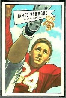 James Hammond 1952 Bowman Small football card