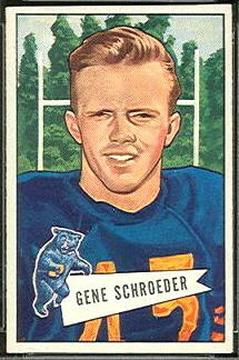 Gene Schroeder 1952 Bowman Small football card