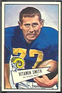 Vitamin Smith 1952 Bowman Small football card