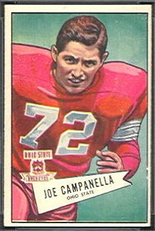 Joe Campanella 1952 Bowman Small football card