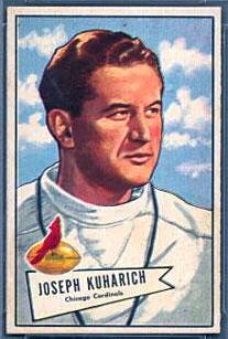 Joe Kuharich 1952 Bowman Small football card