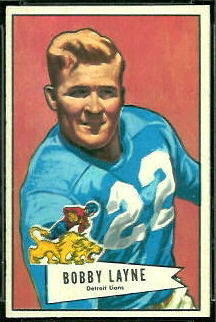 Bobby Layne 1952 Bowman Small football card