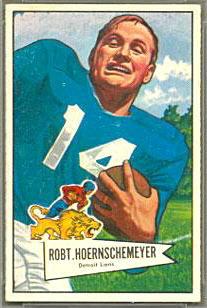 Bob Hoernschemeyer 1952 Bowman Small football card