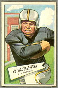Ed Modzelewski 1952 Bowman Small football card