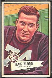 Jack Blount 1952 Bowman Small football card