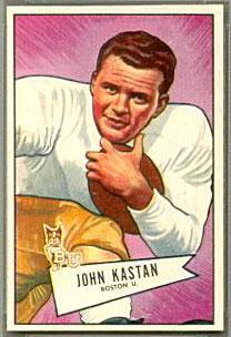 John Kastan 1952 Bowman Small football card