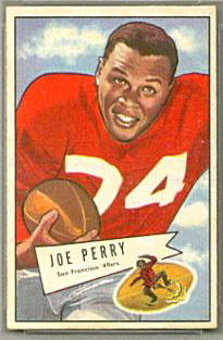 Joe Perry 1952 Bowman Small football card